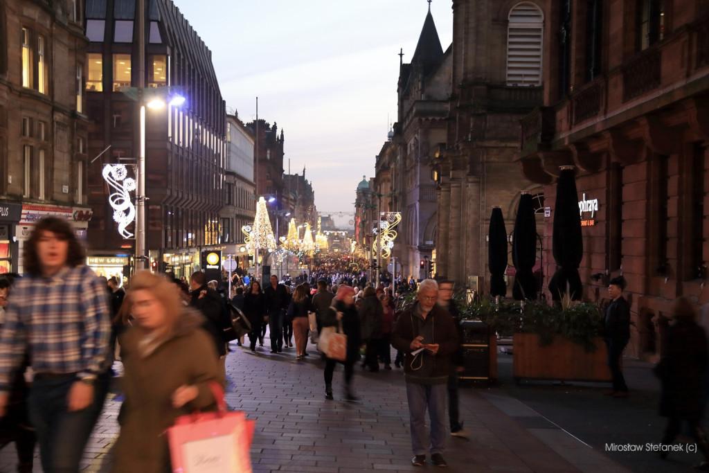 Główny deptak Glasgow.