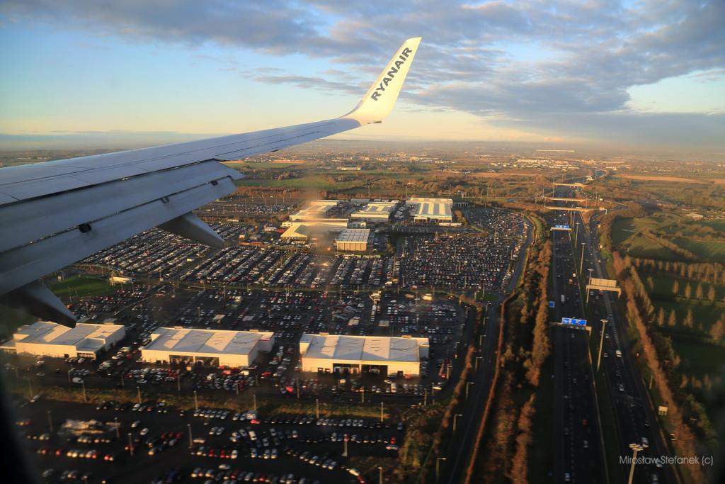 Nad dublińskim lotniskiem.