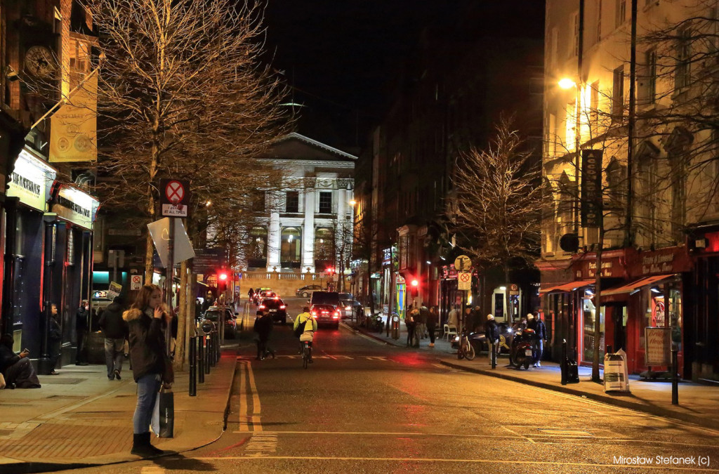 Nocny Dublin.