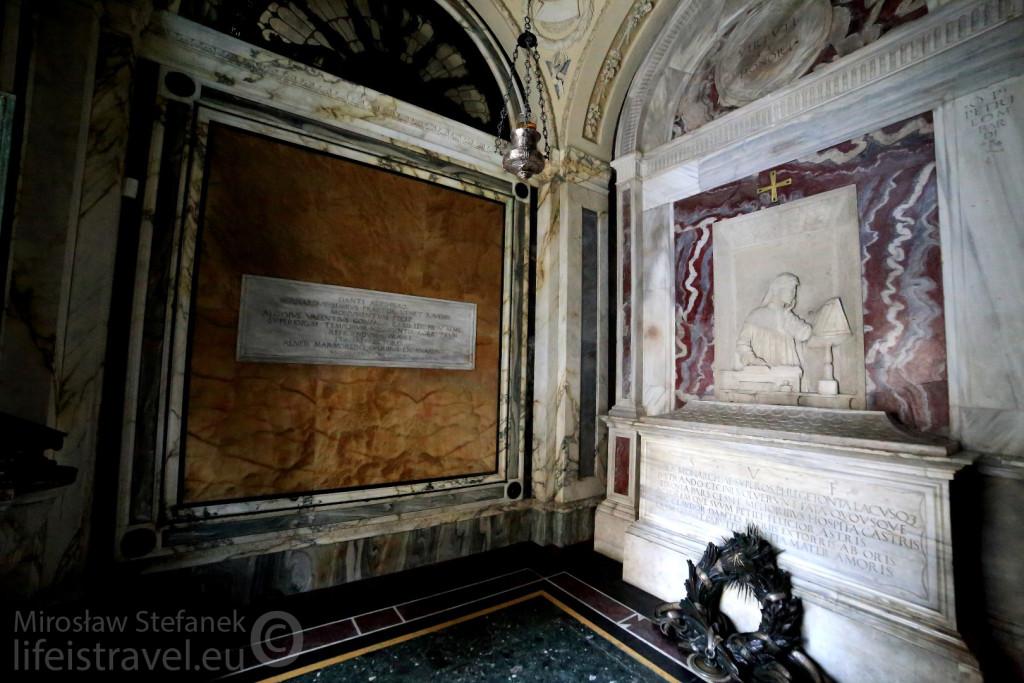 Miejsce spoczynku Dantego Alighieri.