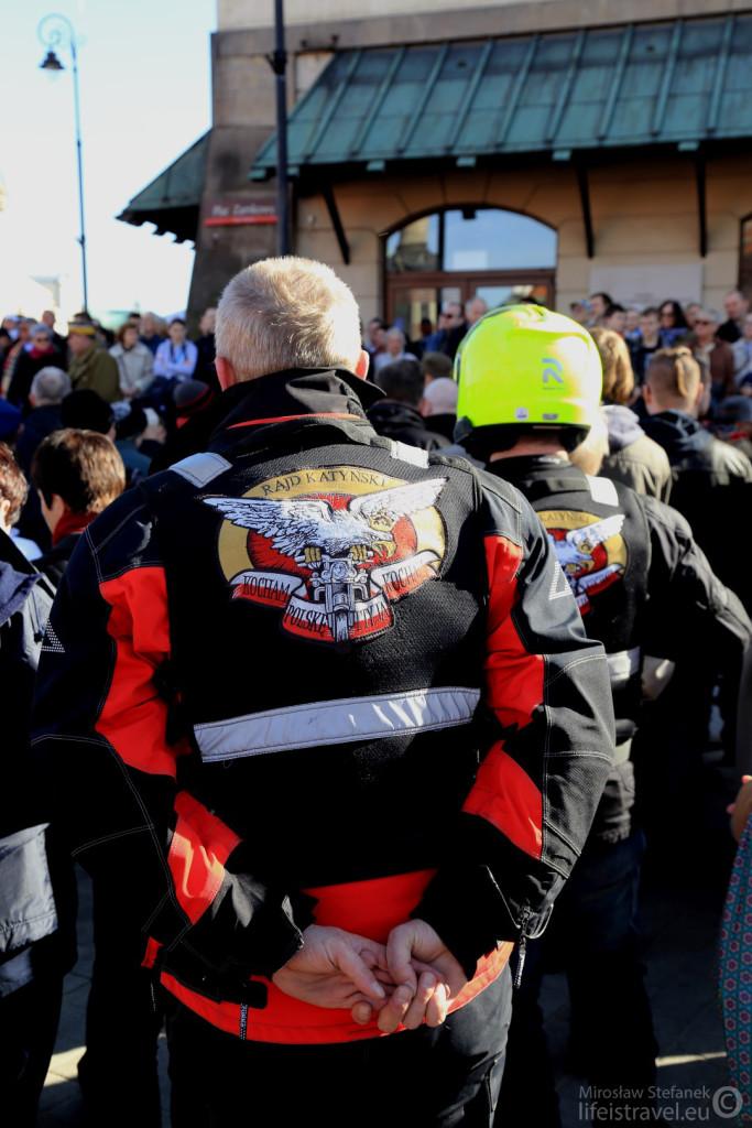 Byli za to motocykliści z Rajdu Katyńskiego. Jak zawsze niezawodni.