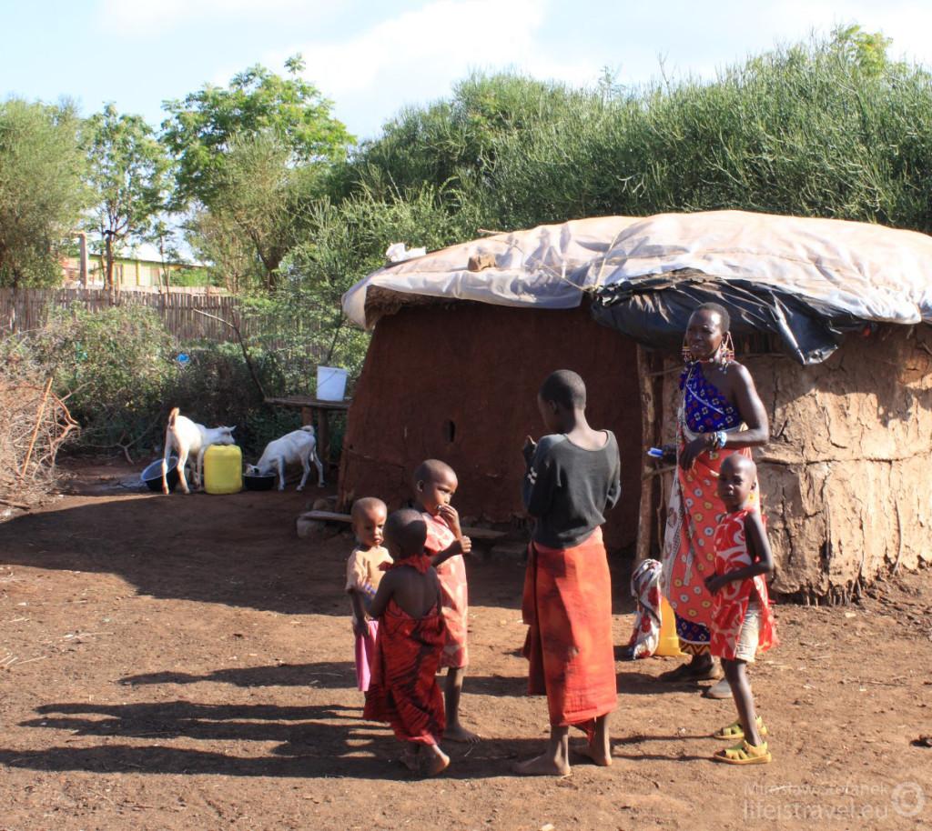 Masajska chata - manyatta.