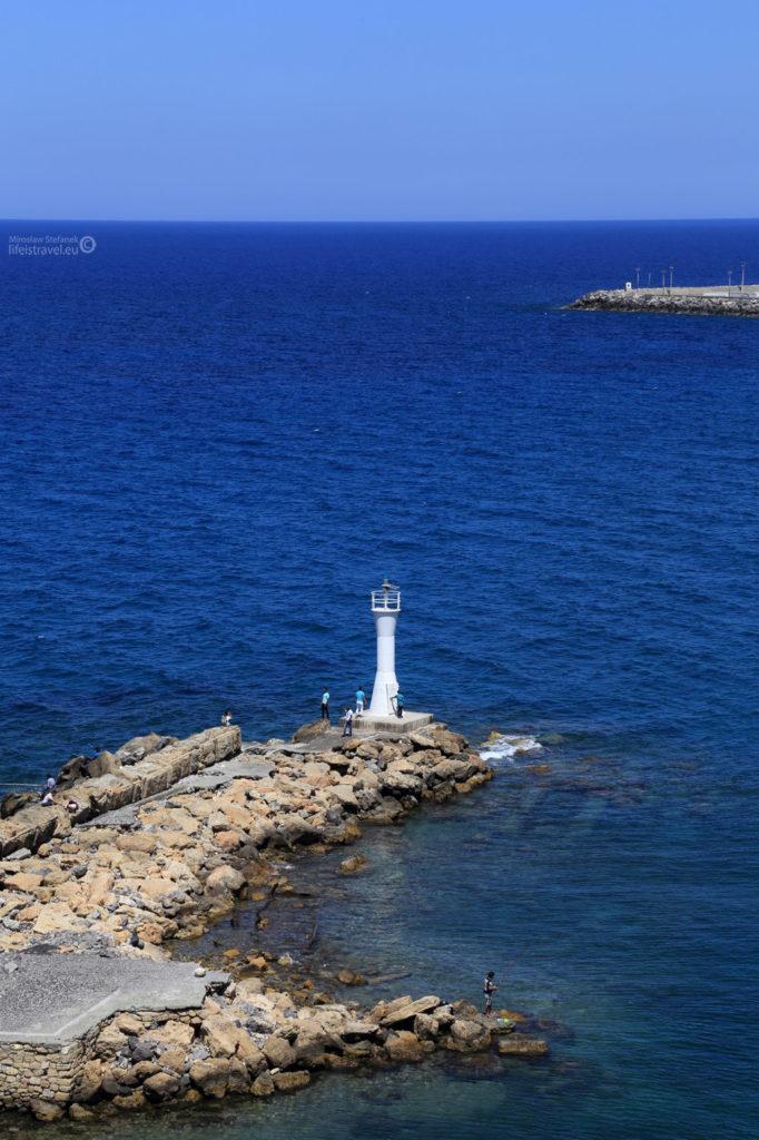 A taki mieli widok strażnicy od strony morza...