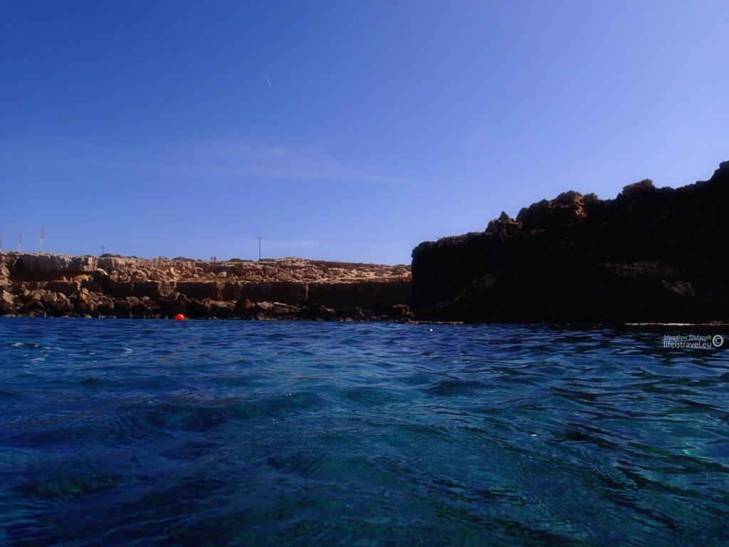 wybrzeże od strony morza