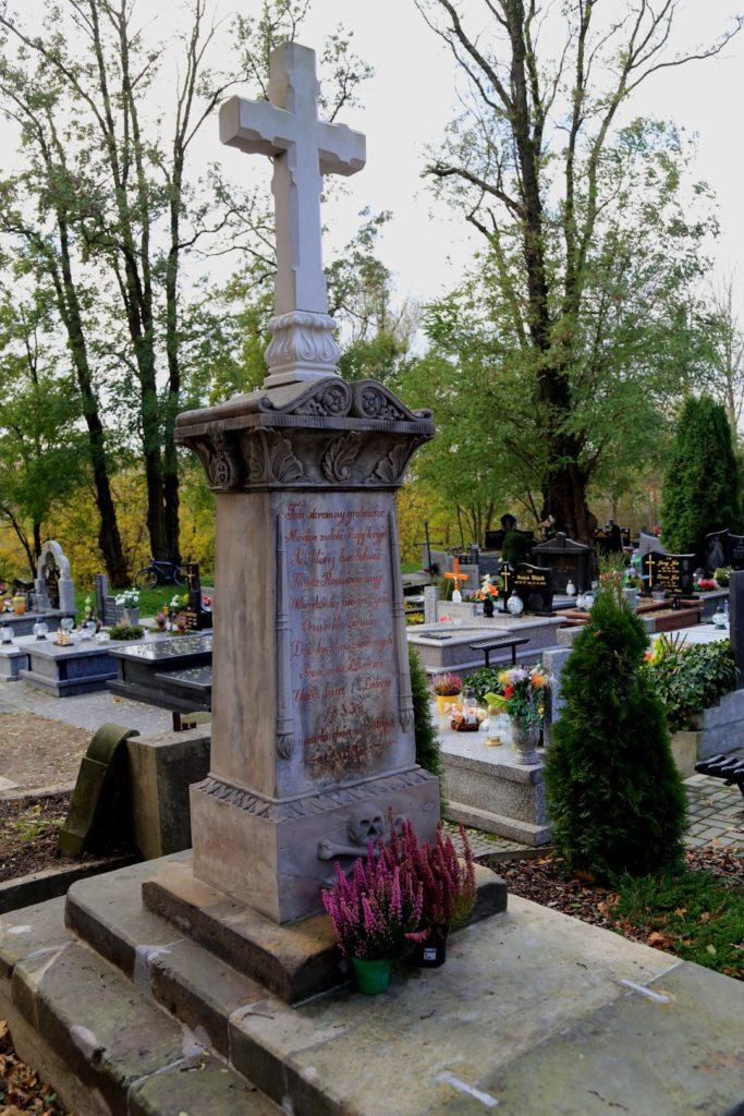 Podwójne insygnia śmierci były stosunkowo rzadko stosowane. Takie istnieją na nagrobku Pogorzelskich. Są to skrzyżowane piszczele i odwrócone pochodnie.